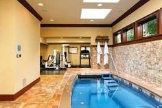 Basement Gym And Spa! [ Wainscotingamerica.com ] #basement #wainscoting #design