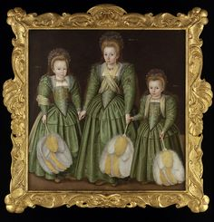 The Egerton Sisters: Elizabeth, Vere and Mary, c. 1600 - artist unknown