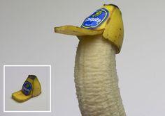 banana peel trucker hat / chiquita