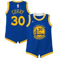 803f02cc340 Infant Golden State Warriors Stephen Curry Nike Royal Replica Jersey  Bodysuit