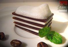 molecular gastronomy/gelification/Coffee lasagne with milk foam