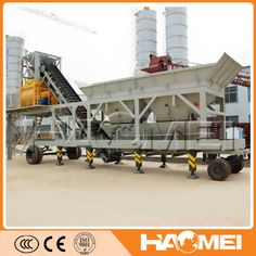 25m3/h mobile concrete batch plant Feel free to contact me by email: sales@haomei.biz or visit our website:  www.haomeimachinery.com