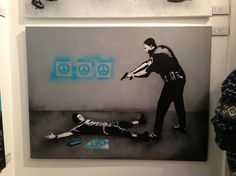 Icy and Sot stencil on canvas