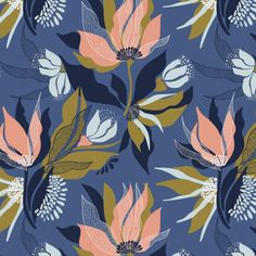 Pattern and Design. Learn to create surface pattern designs Textile Pattern Design, Surface Pattern Design, Textile Patterns, Textile Prints, Print Patterns, Floral Prints, Rajasthani Painting, Spider Art, Watercolor Painting Techniques