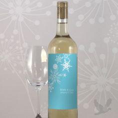 Very cool winter wonderland theme wine!