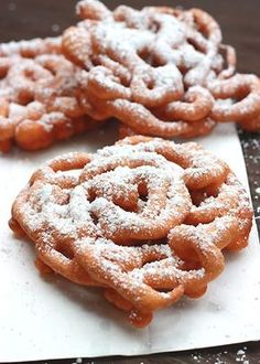 Funnel cakes arean instant crowd pleaser. We love snacking on them at the local county fair during the summer, but can you imagine my kids\' surprise when