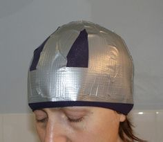 "A cloche hat tutorial, using a form made from duct tape...  The picture made me go ""WTH?!"", but then I read it & it's awesome!"