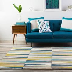 Contemporary Area Rugs, Modern Rugs, Modern Decor, Mid-century Modern, Contemporary Style, Modern Design, Rectangular Rugs, Indoor Rugs, Online Home Decor Stores