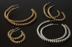Zipper Hoops in Bronze, Vermeil and Sterling Silver by RSBP JEWELRY