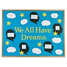 Bulletin Board Ideas: Martin Luther King Jr. - We All Have Dreams Bulletin Board