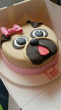 Creative Pug Cakes - http://weloveourpugs.net/creative-pug-cakes/