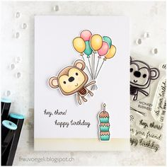 Frau Vögeli: Birthday Monkey - Monkey Business by Reverse Confetti