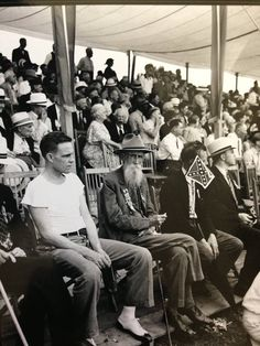 Civil War Veterans and guests at the 1938 Gettysburg reunion event tent. Original unpublished photo from The Gettysburg Museum Of History Archives.