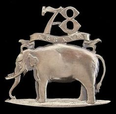 VICTORIAN 78TH ROSE SHIRE FORAGE CAP BADGE 1881 SOLID SILVER. Successor regiment of the 78th Regiment of Foot my wife's  great great great grandfather served from 1793 to 1816 Roderick Innes Drummer. Part of the raising of troops by Scottish aristocrats to gain favour with the British crown...