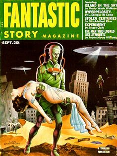Alex Schomburg : Fantastic Story Magazine Sep. 1953
