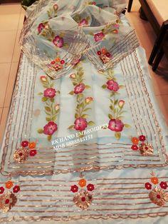 Bridal Suits Punjabi, Designer Punjabi Suits Patiala, Punjabi Suits Party Wear, Party Wear Indian Dresses, Embroidery Suits Punjabi, Embroidery Suits Design, Embroidery Fashion, Embroidery Patterns, Punjabi Suit Boutique