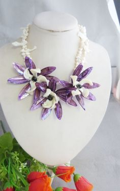 Find More Choker Necklaces Information about 2016  Gorgeous Handmade Shell Flower Necklace Jewelry  Fashion Flower Pendant Necklace ,High Quality necklace earring ring sets,China necklace earring set Suppliers, Cheap necklace blue from Changzhou Day Colour Jewelry Co., Ltd. on Aliexpress.com