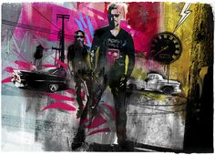 Tim Marrs I like how he has used an image of a person in black and white but has… Flanders Field, Illustrators, Design Art, Pop Culture, Digital Art, Black And White, Drawings, Artwork, Mixed Media