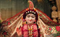 To view Radha Close Up Wallpaper of ISKCON Houston in difference sizes visit - http://harekrishnawallpapers.com/sri-radha-close-up-iskcon-houston-wallpaper-006/