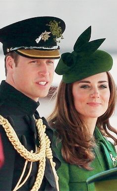 The Duke And Duchess Of Cambridge Attend The St Patrick's Day Parade At Mons Barracks, Aldershot 3/17/2014.