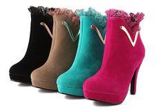 Aliexpress.com: Comprar botas para las mujeres 2013 de encaje satinado de alta moda a prueba de agua de la moda de Taiwán botas de tacón alto botas de desnudos botas botas fiables y proveedores más botas en la tienda de Joybuy tienda