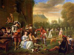 Jan Steen Dutch Baroque Era Painter, ca.1625-1679]_The Garden Party - 1677
