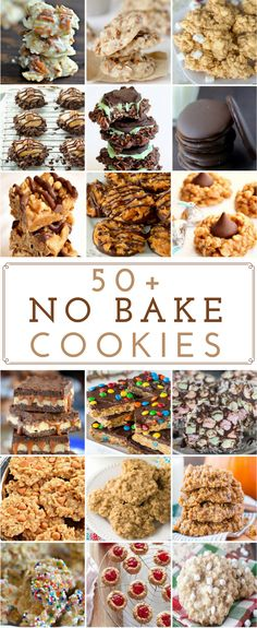 I love no bake cookies because they are cheap, delicious and easy to make. Many of these recipes are under 5 ingredients (most of which you already have in your pantry or fridge like oats, sugar, peanut butter, etc.) Peanut Butter No Bake Cookies Peanut B Mini Desserts, Easy No Bake Desserts, Cookie Desserts, Cookie Recipes, Delicious Desserts, Dessert Recipes, Yummy Food, Recipes Dinner, Dessert Healthy