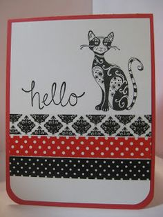 Washi tape and stamping makes this an easy card with lots of WOW!
