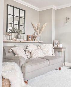 Beige Living Rooms, Glam Living Room, Decor Home Living Room, Living Room Color Schemes, Cream And White Living Room, New Living Room, Neutral Living Rooms, Cream Carpet Living Room, Beige And Grey Living Room