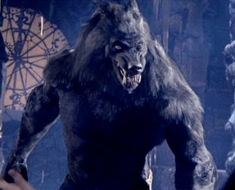 "A ""werewolf"" in the popular movie Van Helsing. To me, the traits were more like a werewolf but the figure was that of a lycanthrope."