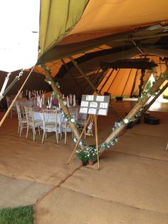The inside of the Tipis at Walkers Farm Cottages.