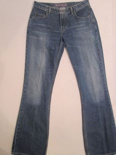 #448 Size 31X36 *Silver Jeans* Boot Flare Leg  Zip Fly Cotton Distressed Jeans  #SilverJeans #BootCut