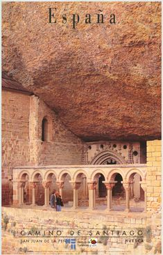 *SPAIN ~ Aragon, Huesca, romantic cloister of the Monastery of San Juan de la Peña 1998