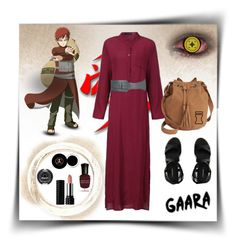 """""""GAARA OF THE SAND FROM NARUTO"""" by marielecastan ❤ liked on Polyvore featuring Alaïa, Deborah Lippmann, Sugarpill, Kat Von D, Anastasia Beverly Hills, Canvas by Lands' End, American Rag Cie, naruto, gaara and animefashion"""