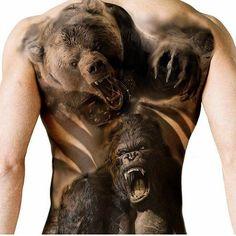 Die besten 17 Ideen zu Gorilla Tattoo auf Pinterest ...