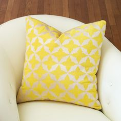 Luxury Designer Solar Yellow Geometric Pillow, so glamorous, more beautiful inspiring luxury designer furniture, lighting and home decor accents to enjoy pin and share at InStyle Decor Beverly Hills enjoy & happy pinning