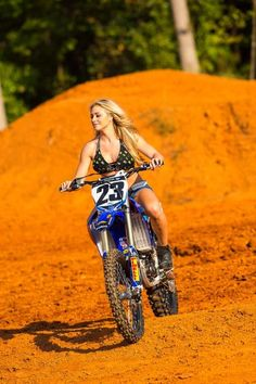 This is the hottest thing ever, when a woman rides! They don't call her Miss Supercross for nothing! Dianna Dahlgren rockin a custom Monster Energy X Crispy Bikinis halter bikini top {designed and handmade by the Ladies of #CrispyBikinis - Sue Swink