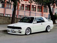 BMW E30 3 series white cabrio