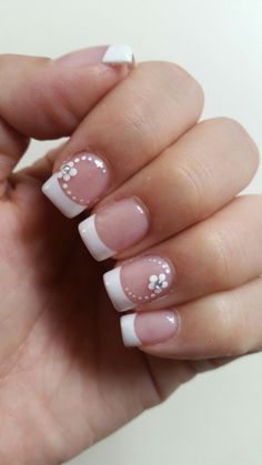 #Nails #French #Flowers