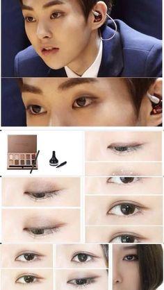 EXO (Xiumin) makeup tutorial ! on We Heart It