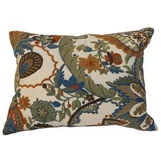 English Crewelwork Floral Pillow ($295) ❤ liked on Polyvore featuring home, home decor, throw pillows, pillows, floral home decor, english home decor, floral throw pillows, floral accent pillows and floral toss pillows