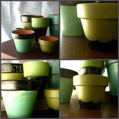 How To: DIY Guide - Chalkboard Paint Pots - we heart this | we heart this