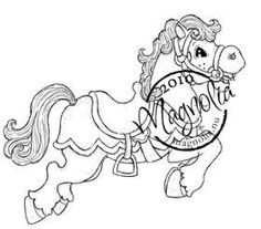 Magnolia Stamps - Circus Horse - The Rubber Buggy