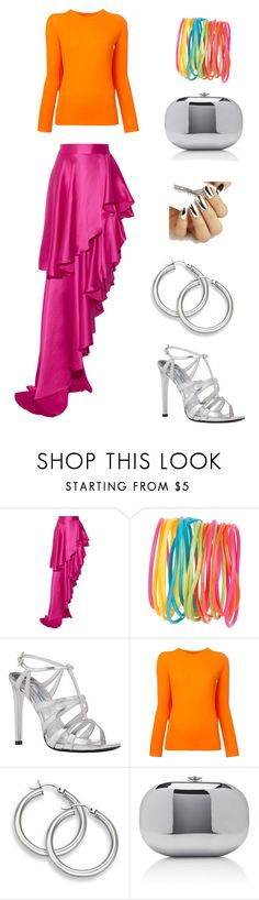 """""""Silver and brights"""" by edith-a-giles ❤ liked on Polyvore featuring Michael Lo Sordo, Prada, MM6 Maison Margiela and Jeffrey Levinson"""