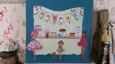 Paper doll Tea party created by Susanna Easdale.🎨