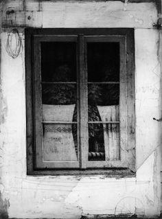 Safet Zec(Bosnian, b.1943)    Finestra chiusa 1995    etching & drypoint