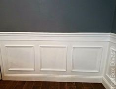 Install Picture Frame Moulding   Budget Friendly Wainscoting