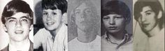 Five known victims of Dean Corll and Elmer Wayne Henley