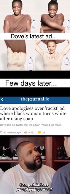 Dove you played yourself.