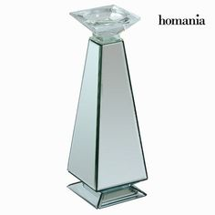 Crystal mirror candle holder by Homania